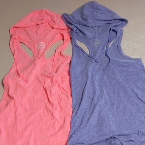 EUC Set of Two Hooded Tank Tops